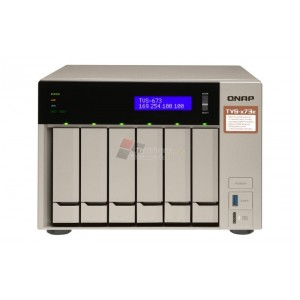 QNAP TVS-673e-8G 6-BAY NAS WITH AMD EMBEDDED APU