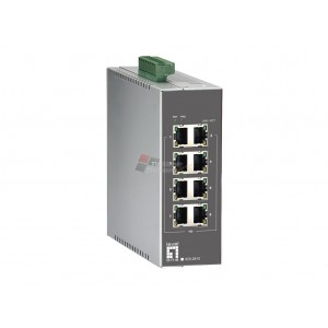 Level One IES-0810 8-Port Industrial Fast Ethernet Switch, DIN-Rail